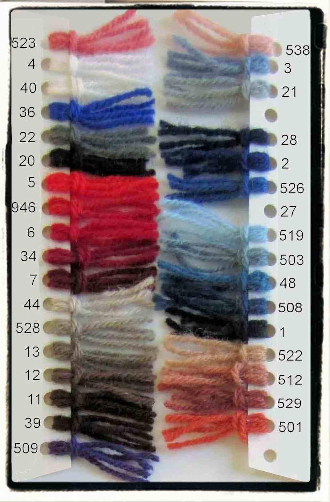 Danella color shade card 1