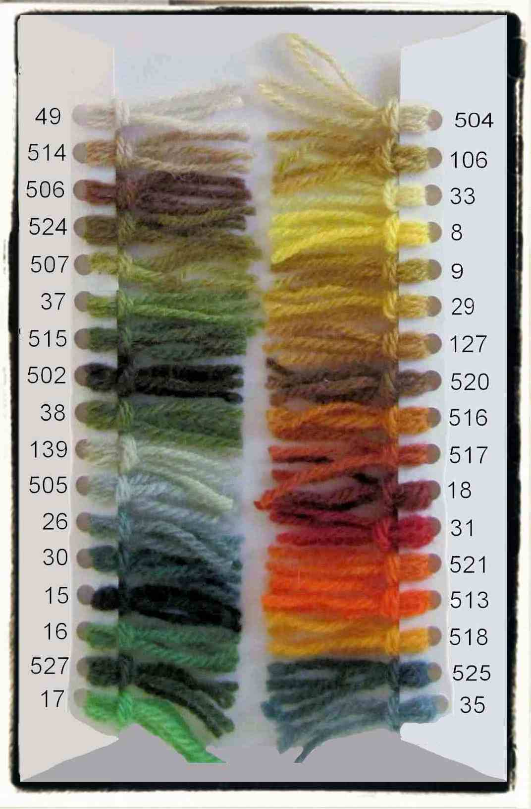 Danella color shade card 2